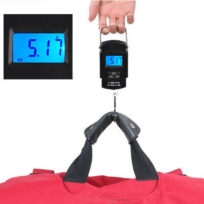 50kg x 5g Digital Hanging Scale 110lbs x 0.02lb Portable Travel Luggage Scale