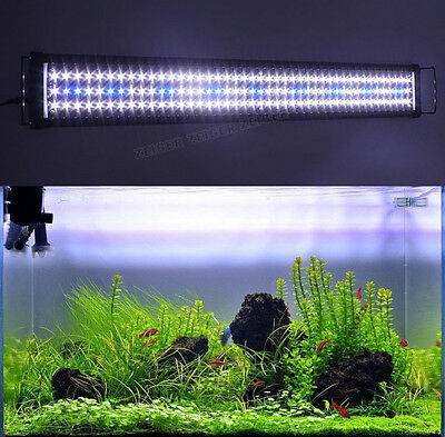 Aquarium Top Lightbar Fish Tank Over-Head Lamp LED Light Blue/White RGB Color