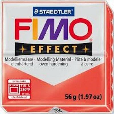 Fimo Effect Polymer Clay  - Translucent Red No 204