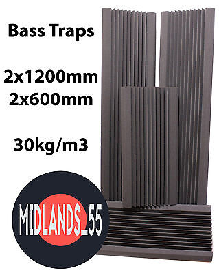 4 Professional Acoustic Foam (1200mm+600mm) Bass Traps Sound Treatment