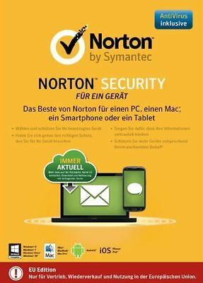 NORTON (Internet) Security 2.0 2018 / 2019 1 Gerät - 1 Jahr PC/Mac/Tablet/Ph