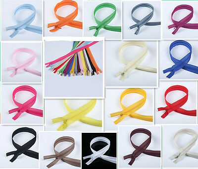 5-100pcs Nylon Invisible Soft tulle Coil Zippers Sewing 22inch (colors of 17)