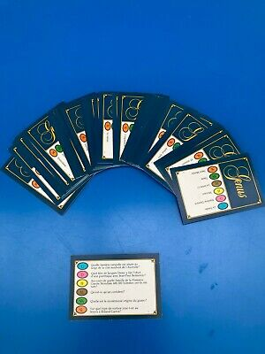TRIVIAL PURSUIT Lot de 50 Cartes Jeu Edition GENUS 300 Questions Recharge ! FR