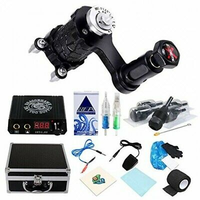 Professional Complete Tattoo Kit 4 Top Machine Gun 10 Ink 50 Needle Power Supply