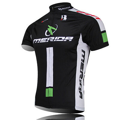 MERIDA Team Men's Bicycle Clothing Cycling Jerseys Biking Short Sleeve Shirts