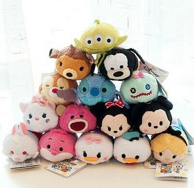 60 Styles New Disney TSUM TSUM Mini Soft Plush Toys Screen Cleaner With Chain