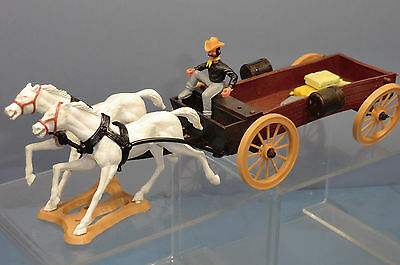 VINTAGE CHERILEA MODEL No.XXX BUCK BOARD  WITH HORSES & TIMPO DRIVER