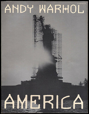 AMERICA by Andy Warhol, First Edition 1985 SIGNED Uncommon thus