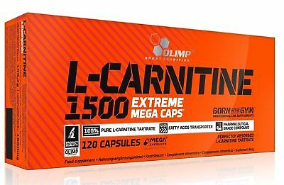 Olimp L-CARNITINE 1500 Extreme Mega Caps Diet Pills WEIGHT LOSS Slimming