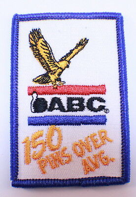 Bowling Uniform Patch High ABC 150 Pins Over Average