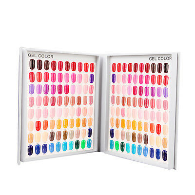120 Nail Tip Colour Chart Display Book With Tips For Uv/led Gel Polish
