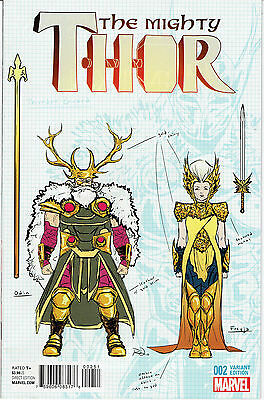 Mighty Thor #2 Dauterman 1:20 Design Variant Cover! Marvel Comics Nm Or Brtter!