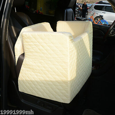 PawHut Portable Pet Car Seat Deluxe Dog Cats Booster Seats Puppy Carrier Beige