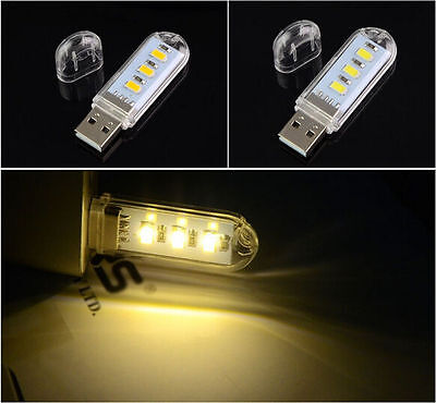 USB LED Light Lamp For Computer Keyboard Reading Laptop Notebook PC BUAU