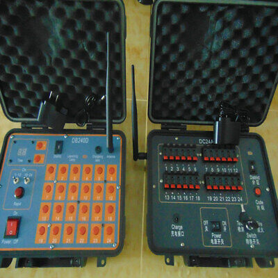 Wireless 24Cues Fireworks Firing system-rechargeab-500m distance-program display