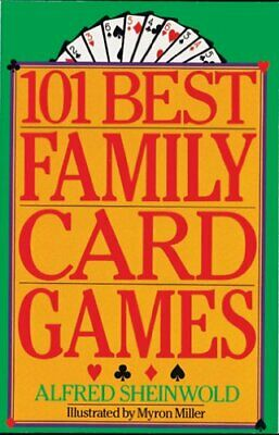 101 Best Family Card Games by Sheinwold, Alfred Paperback Book The Cheap Fast