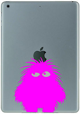 347 Ipad Mini Air PINK FLUFFY MONSTER Sticker Decal Tablet Customize  your iPad