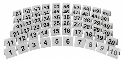 Restaurant Bar Cafe White Plastic Table Numbers 1-60 Available