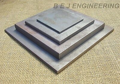 Black Steel Square Plates - 100mm to 200mm square - Fixing-Mounting - Mild Steel