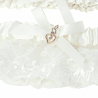 Hot Lace Hand Made Heart Personalised Wedding Garter Lingerie Gift Bridal Ivory