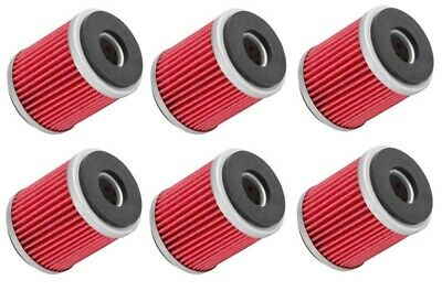 SIX 6 PACK of OIL FILTERS YAMAHA WR450F 12 to 16 WR450F ADR 14 15 YZ450F 14-16