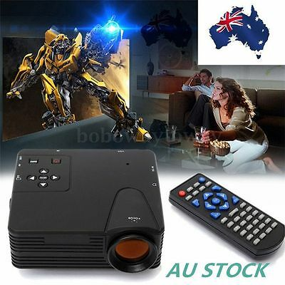 Multimedia Home Cinema Theater LED LCD Projector HD 1080P PC AV TV VGA USB HDMI