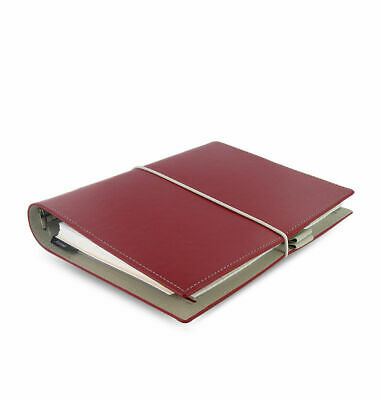 Filofax - A5 Domino Red - Smooth Grained Leather Look Organiser