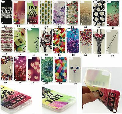 Cute Soft Silicone TPU Gel Case Cover for Apple iPod Touch 5th 6th Generation