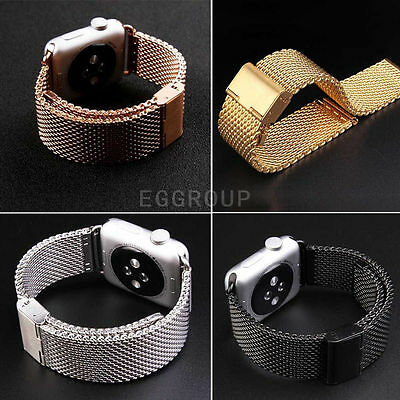Stainless Steel Buckle Watch Strap with adapter for Apple Watch iWatch 42mm/38mm