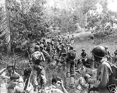 1942-U.S. Marines troops from the 164th Infantry rest at Guadalcanal