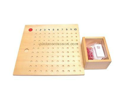 "Pink Montessori Math Material "" Multiplication Bead Board"" M073"