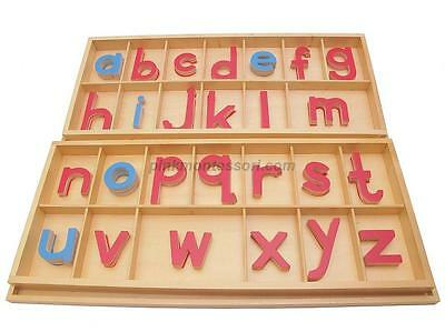 "PinkMontessori Material "" Large Movable Alphabet (Print) with Boxes"" L010"