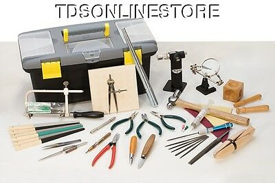 50 Piece Essential Jewelers/Crafters Tool Kit With Carrying Box