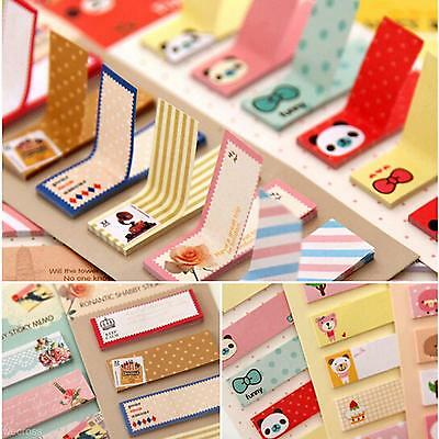 2017 Cartoon Sticker Office Bookmark Marker Memo Index Tab Sticky Notes