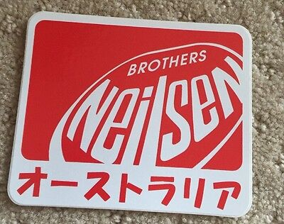 RARE BROTHER NEILSEN STICKER COLLECTIBLES Japanese Writing Sticker