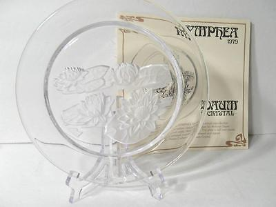 Daum Art Glass Nymphea Plate New With Sticker And Box