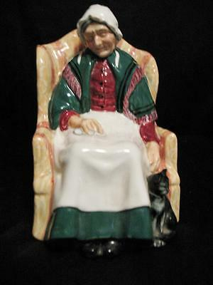 """Vintage Royal Doulton Figurine HN 1974 COPR 1945 England Forty Winks 6 3/4"""" Tall"""