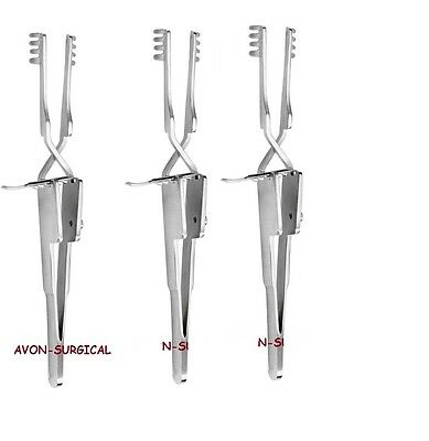 "3 Pcs Stainless Steel Cross Action Heiss Retractor Blunt 4.5""surgical Instrument"