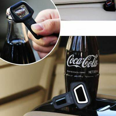 Car Auto Universal Bottle Opener Seat Belt Buckle Alarm Clasp Stopper Black Beer