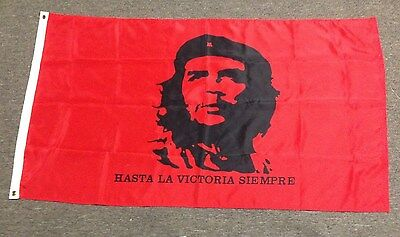 CHE GUEVARA FLAG WITH BRASS GROMMETS - 33 x 57 inches