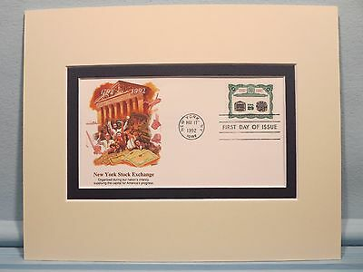 Wall Street & the New York Stock Exchange & 200th Anniversary First Day Cover