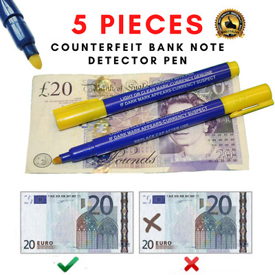 1x Bank Note Checker Pens Counterfeit Fake Forged Money Detector Tester Marker