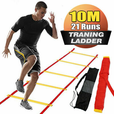Agility Speed Sport Trainning Ladder 8M-Soccer Fitness Boxing 21 Rungs With Bag