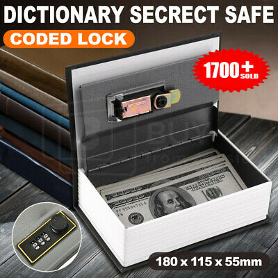 Dictionary Book Secret Hidden Security Safe Lock Cash Money Jewellery Locker