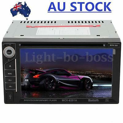 Bluetooth 2 Din 6.2'' HD In Dash Stereo Car CD DVD Player Touch Screen Radio AU