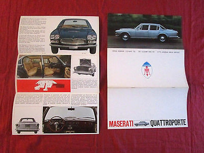 MASERATI QUATTROPORTE   : catalogue en 4 langues 1967-1971