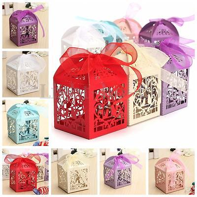 10/50/100pcs Birdcage Wedding Party Bomboniere Favour Candy Gift Chocolate Box