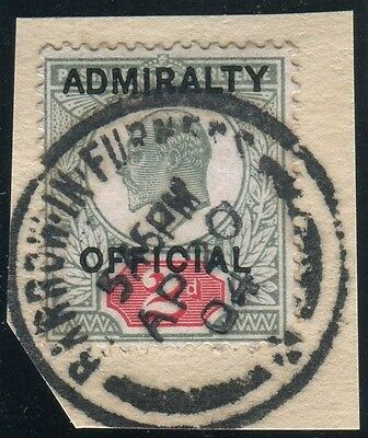 Sg O104 2d Green & Carmine OVPt ADMIRALITY OFFICIAL.  A very fine used example