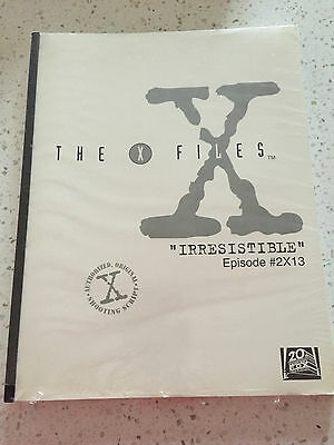 X-Files shooting script for IRRESISTIBLE Episode 13 Season 2