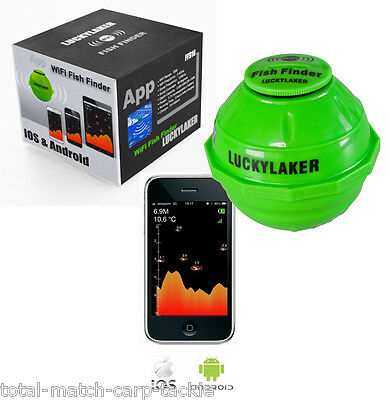 Lucky Laker Wireless WI-FI Fish Finder. Kayak, Boat, shore,Ice. Carp / Coarse